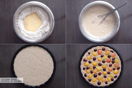 Cake de albaricoques y cerezas con buttermilk a la lavanda. Pasos
