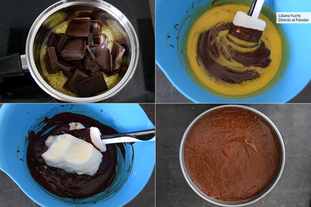 Pastel de Chocolate con tres ingredientes. Pasos