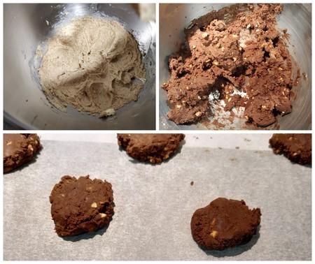galletas veganas chocolate cacahuetes