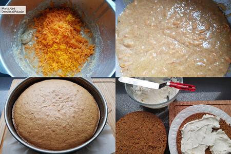 paso a paso tarta de zanahoria
